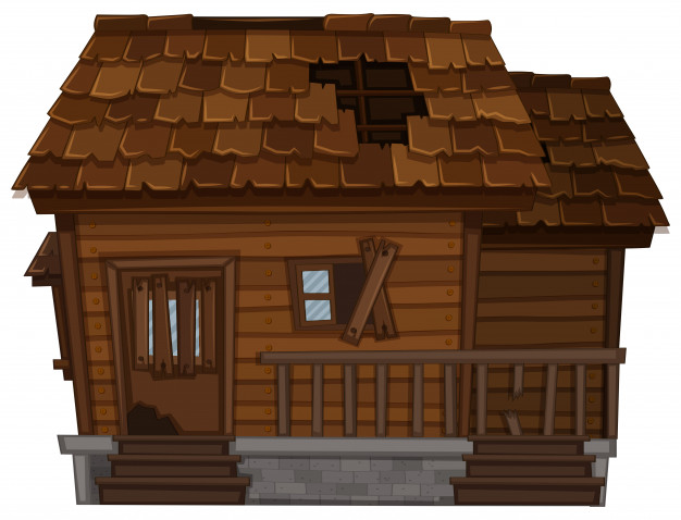 casa madera vieja mal estado 1308 5546