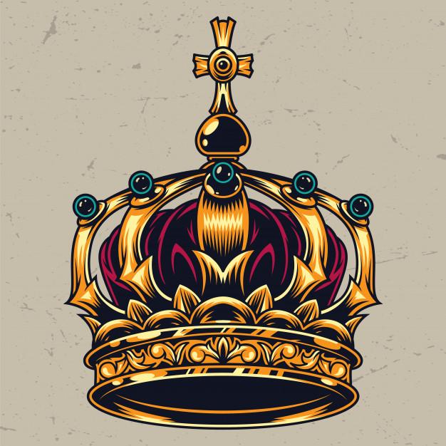 concepto corona real adornado colorido vintage 225004 1362
