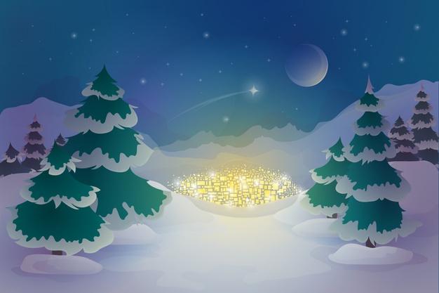 fondo invierno dibujado mano 23 2148386238
