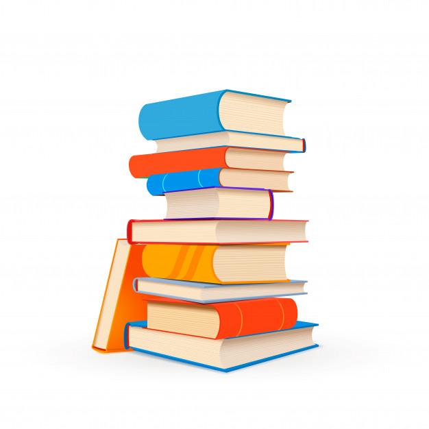 pila coloridos libros texto aislados blanco 88653 1221